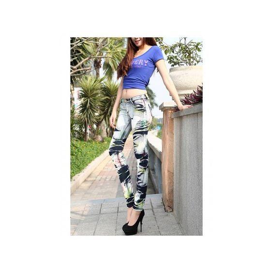 Pantalones tejanos originales para mujer con un toque de colores, ¡ideal para darle vida a tu armario! 14,55 €
