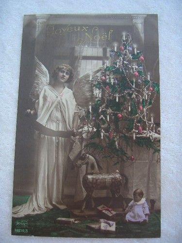 alte AK Engel Käthe Kruse Puppe I, Christbaum, Pferd auf Rädern, Geschenke   eBay