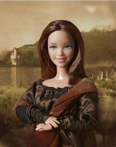 Mona Barbie; Staring vapidly......
