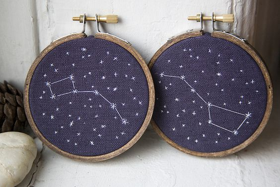 Big & Little Dipper, definitely wanna make this but a play off with stars in the shape of keys. like big little keys?
