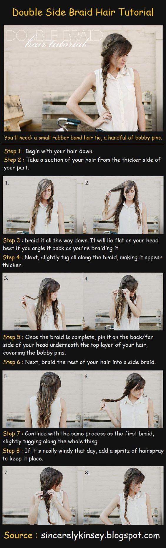 Double Side Braid Hair Tutorial