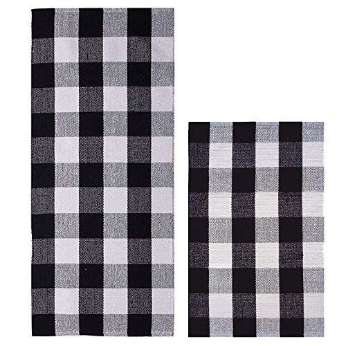 Homcomoda Buffalo Plaid Checkered Area Rug Cotton Black A Https Www Amazon Com Dp B07kmtb2xm Ref Cm Sw R Pi Rugs In Living Room Floor Rugs Bedroom Carpet