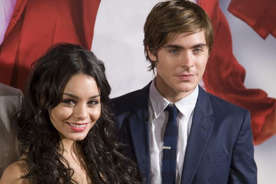US actors Zac Efron  and Vanessa Anne Hudgens pose prior to the screening of the film 'High School Musical 3' on October 2, 2008 in Madrid.  (Photo by Eduardo Parra/Getty Images) *** Local Caption *** Zac Efron;Vanessa Anne Hudgens