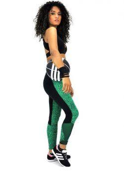 Green STORM Leggings | Mirelle Activewear  Squat Proof leggings