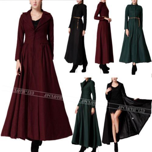 Floor Dress Womens Ankle Full Length Coat Very Long Jacket US 0 2