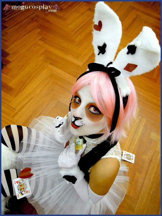 White rabbit cosplay
