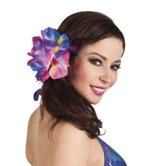 Hawaii haarbloem. Hawaii of tropisch feestje? Bij Fun en Feest vind je de leukste Hawaii feestartikelen, kostuums en accessoires. Toppers Crazy Summer accessoires tip!