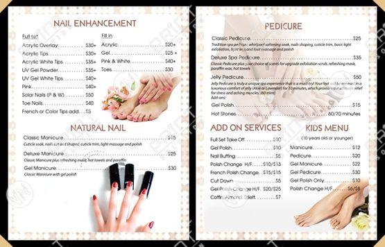 Nmn4 12 Back Nails Salon Archives Vn Print Solution Salon Print Nail Salon Design Nail Salon