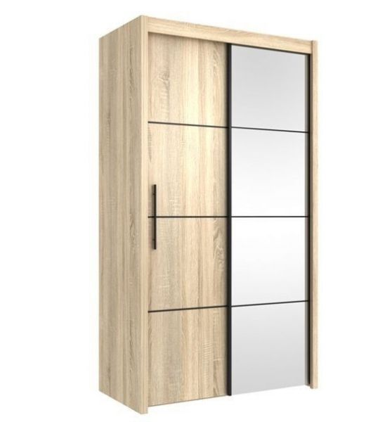 This Impression Small Sliding Wardrobe Inova Small Sliding Door Wardrobe Cupboard Oak Effect 12 Sliding Wardrobe 2 Door Wardrobe Top Quality Bedroom Furniture
