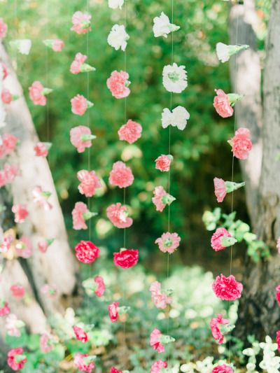 Fab floral backdrop: http://www.stylemepretty.com/little-black-book-blog/2015/03/23/whimsical-garden-inspired-bridal-shower/ | Photography: Honey Honey - http://www.hoooney.com/: