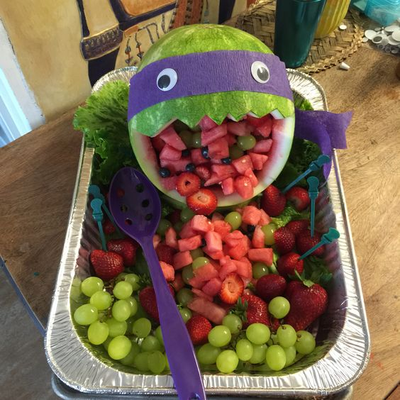Ninja turtle water melon salad