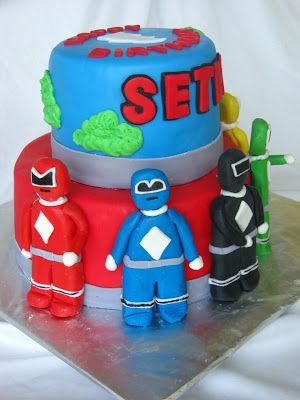 Power Rangers Cake.by RoseBakes.com