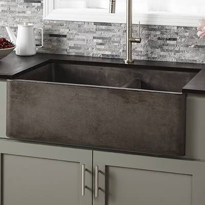 Farmhouse 33 L X 21 W Double Basin Farmhouse Apron Kitchen Sink