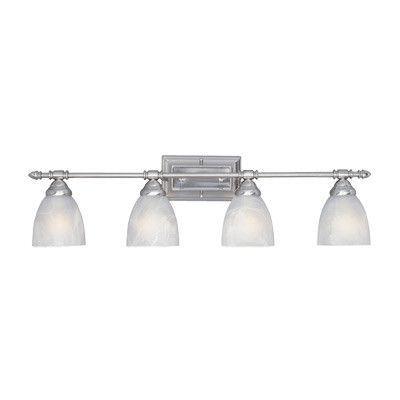 Yosemite Bathroom Lighting designers fountain apollo 4-light vanity light finish: satin