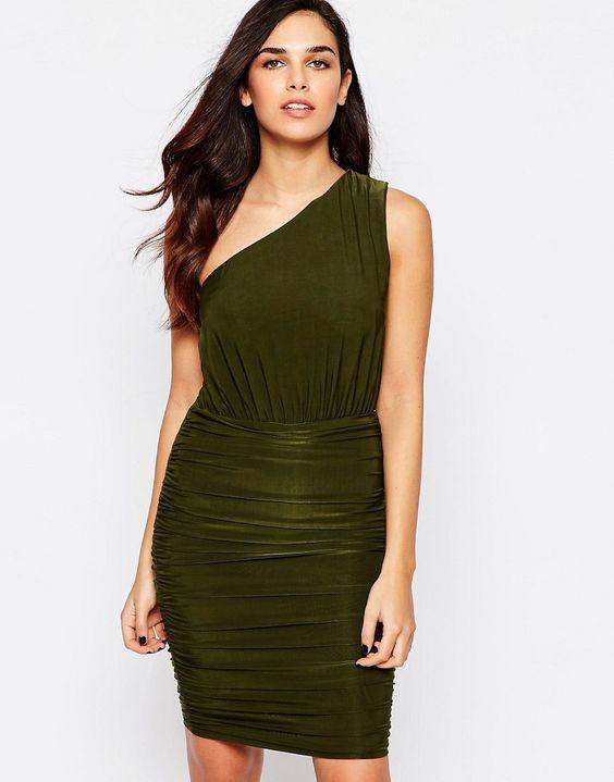 AX Paris One Shoulder Dress in Slinky