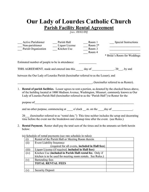 House Rent Receipt Template Bagnas - facility rental contract - blank lease agreement