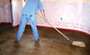 Step 4 cleaning the acid stained floor clean the acid for Clean acid stained concrete