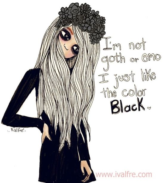 Emo Quotes About Girl: Emo, Goth And Color Black On Pinterest