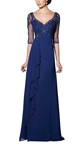 UniWedding Women's Elegant Long V-neckline Sheer Sleeves Embellished Gown US 18 UniWedding http://www.amazon.com/dp/B00Z5C70GU/ref=cm_sw_r_pi_dp_mhSTvb0SBQQSP
