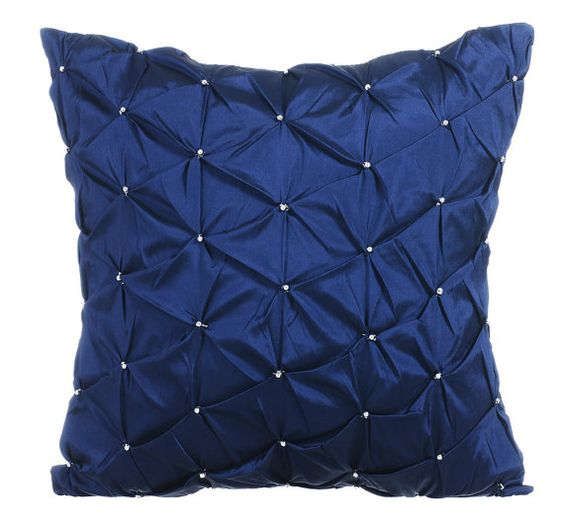 Navy Blue Pillow Cases 16x16 Couch Pillows by TheHomeCentric
