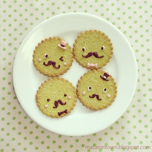 Mr. Mustache cookies! For a dapper snack anytime.