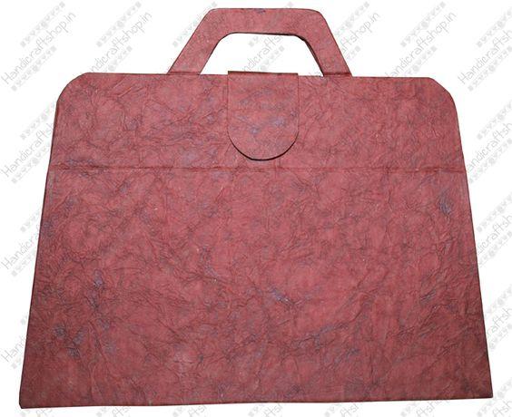 Handmade #paper #briefcase folder shop online with handicraftshop.in