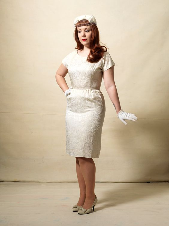 Vintage 1960s wiggle dress & jacket / wedding ensemble / ivory ...