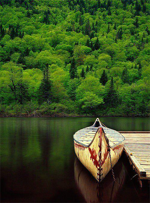 Bootsfahrt bei einer schönen grünen Kulisse.