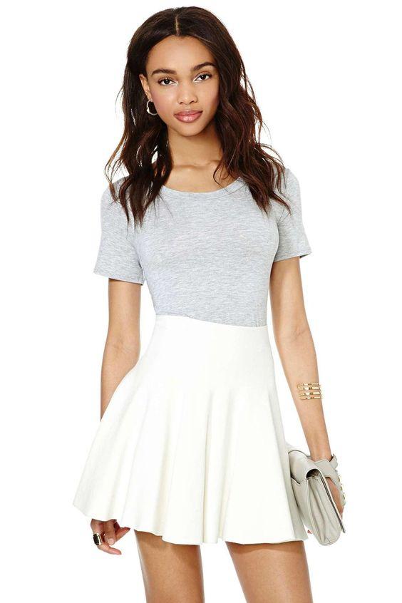 simple skirt and tee