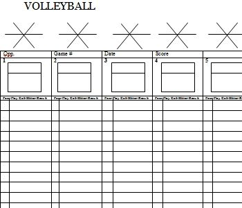 Blank Volleyball Lineup Sheets Printable | Volleyball Drills ...