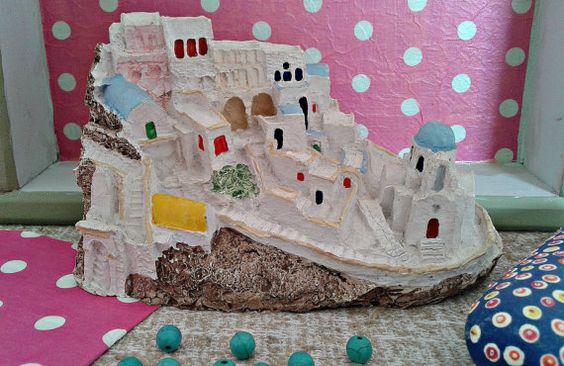 Greece Santorini vintage souvenir Collectible made in by Milras