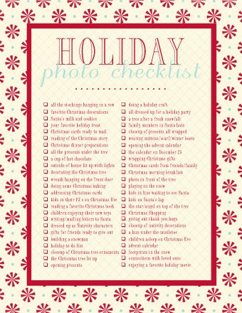 Photo Checklist For Christmas.: Photography Challenge, Christmas Photo, Check List, Photo Checklist, Photography Checklist