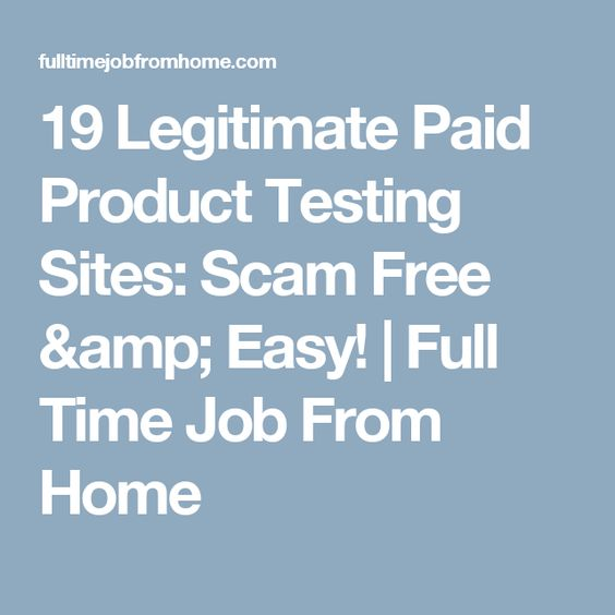 Are product testing jobs legit