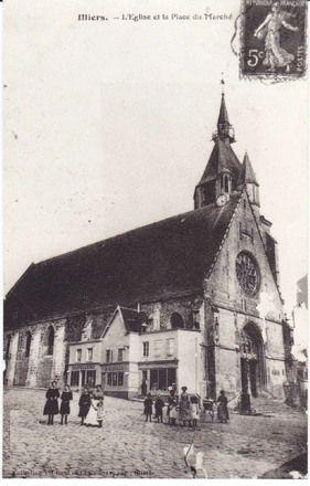 Iglesia de Saint-Jacques (Saint-Hilaire en la Recherche). Illiers-Combray.
