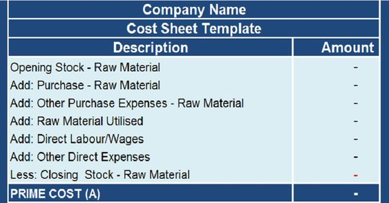 Download Cost Sheet With COGS Excel Template Financial Analysis - cost analysis template
