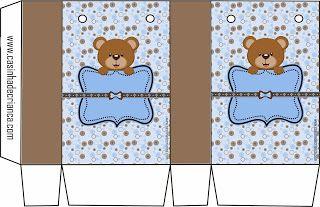 Kit CHá de Bebê Ursinho Marrom e Azul