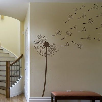 Dandelion wall decor Love this! found a stick on sticker at Target hopefully its still there..if not i will have to hire someone to paint this on my wall lol: Wall Art, Wall Decals, Decorating Ideas, Photo Wall, Future House, Wall Decoration, Craft Ideas, Kids Rooms
