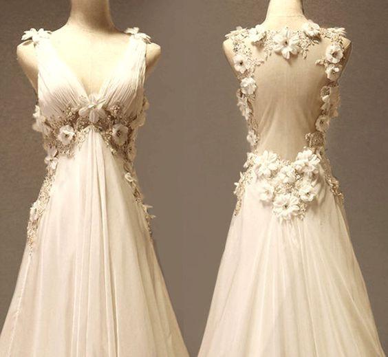 Vestido Vintage con detalles de flores