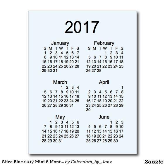 calendar postcard print calendar month calendar month mini 6 month ...