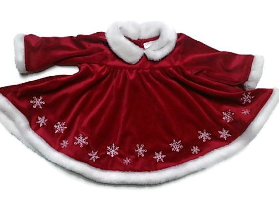 Baby Girl Red Christmas Dress 3-6 month Gift for baby by RayMels ...