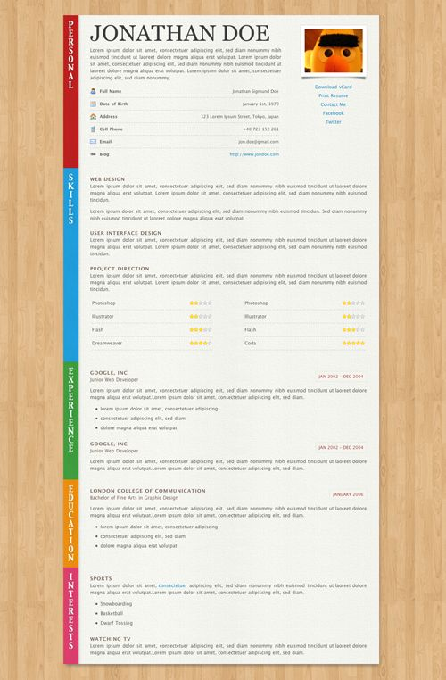 Best Online Cv Resume Templates  Online Cv Cv Resume Template
