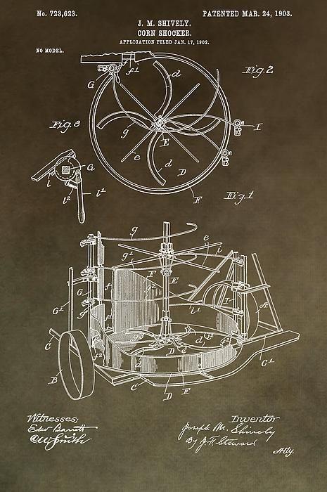 Vintage Corn Shocker Patent