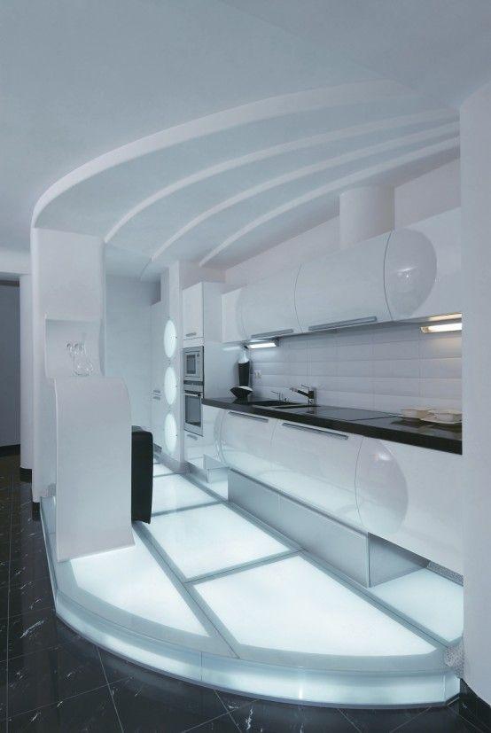 Futuristic Apartment Interior That Reminds A Salt Cave | Kitchen  Inspiration   Small Space | Pinterest