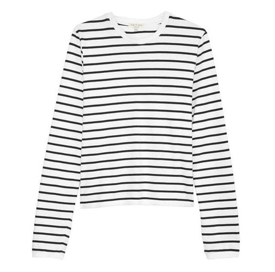The @rag_bone Boy Long Sleeve Tee is our sale steal of the day. Originally $175.00 // now 50% OFF at $87.50! Sizes XS-L available, shop it online or in store! #ragandbone #tees #stripes #blackandwhite #sale #steal #designersale #semiannualclearance #dianiboutique at www.dianiboutique.com Call 1.877.342.6474 to order! @ragandboneny