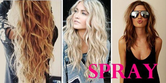 Pour un look de plage parfait: Fabriquer un spray maison pour onduler vos cheveux!