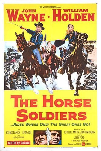 Directed by John Ford.  With John Wayne, William Holden, Constance Towers, Judson Pratt. A Union Cavalry outfit is sent behind confederate lines in strength to destroy a rail/supply centre. Along with them is sent a doctor who causes instant antipathy between him and the commander. The secret plan for the mission is overheard by a southern belle who must be taken along to assure her silence. The Union officers each have different reasons for wanting to be on the mission.