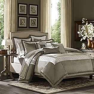 Gramercy Park Monaco 3pc Mini Comforter Set Bed Bath Decorative Bedding Comforters