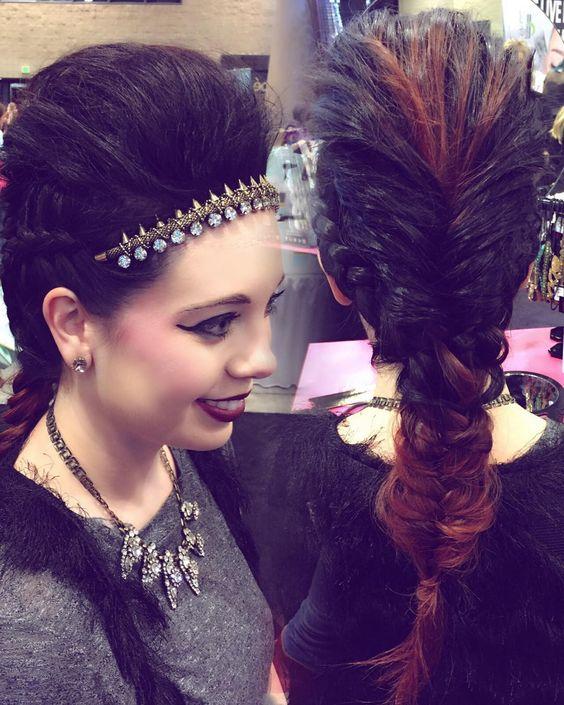 """#RockStar look in @pinkpewter  #premierebirmingham #style ""Kira"""""