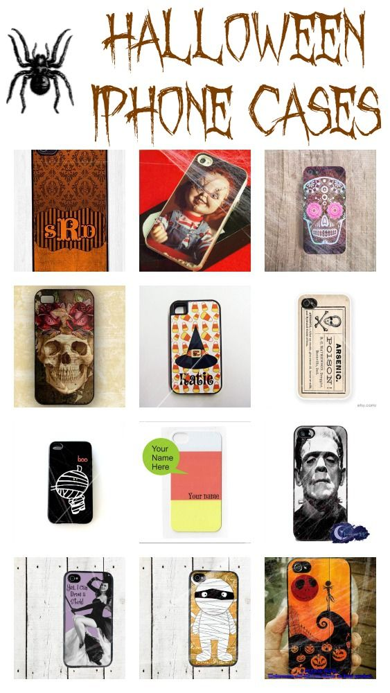 Halloween iPhone cases: Spooky tech accessories to help celebrate #halloween | from @Vera Sweeney (Ladyandtheblog.com): Iphone Cases, Halloween Iphone, Halloween Gift Ideas, Cases Spooky, Fall Yall, Tech, Craft Ideas