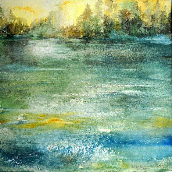 Art: Watercolour:...in the Still of Tide. by Nadia Minic, via Flickr